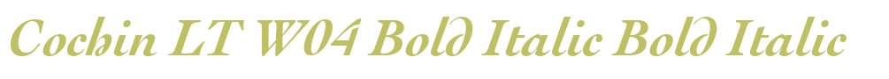 Cochin LT W04 Bold Italic