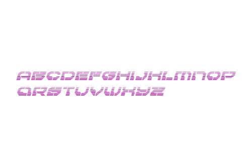 Pulsar Class Gradient Italic