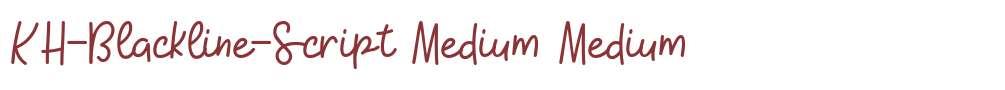 KH-Blackline-Script Medium