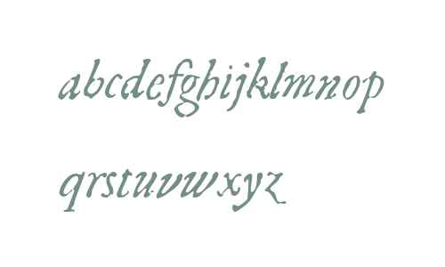 1592 GLC Garamond W00 Italic