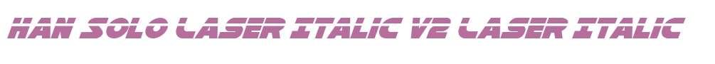 Han Solo Laser Italic V2