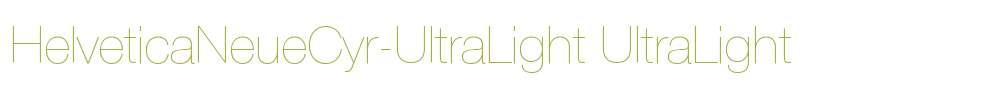 HelveticaNeueCyr-UltraLight