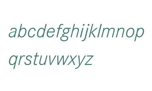 Corporate S W07 Light Italic