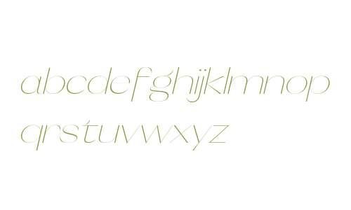 Orelo SemiWide UltraLight Italic
