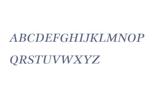 Civita W01SC Italic