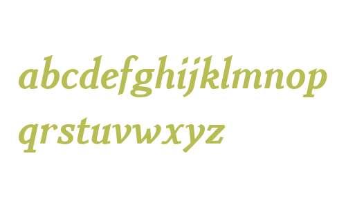 Benicia W01 Extra Bold Italic