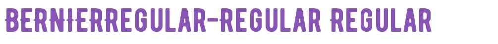 BERNIERRegular-Regular