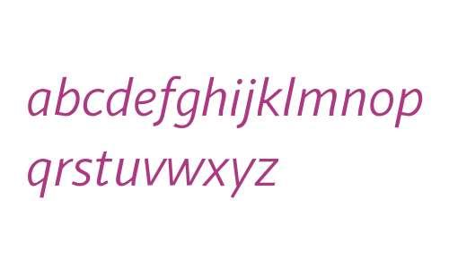Sana Sans Alt W00 Italic