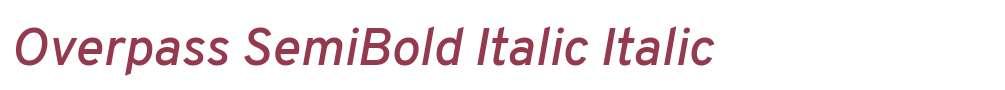 Overpass SemiBold Italic