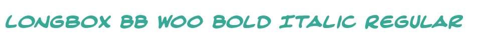 Longbox BB W00 Bold Italic