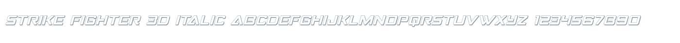 Strike Fighter 3D Italic
