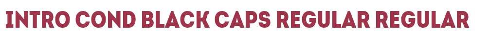 Intro Cond Black Caps Regular