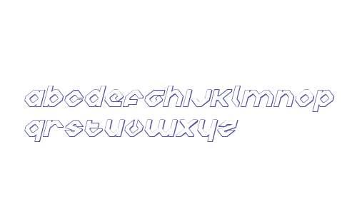 Charlie's Angles 3D Italic