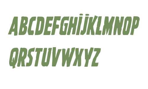 Ghoulish Intent Condensed Italic