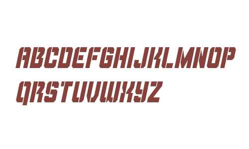 Thunder Trooper Condensed Italic