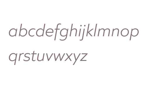 Quiet Sans W04 Light Italic