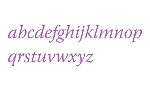 Warnock Pro Light Italic