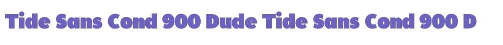 Tide Sans Cond 900 Dude
