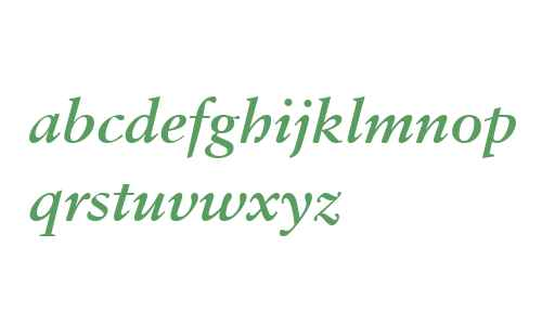 Sabon W04 Bold Italic