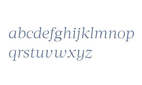 Acta Deck W00 Light Italic