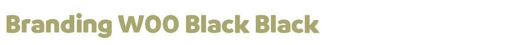 Branding W00 Black