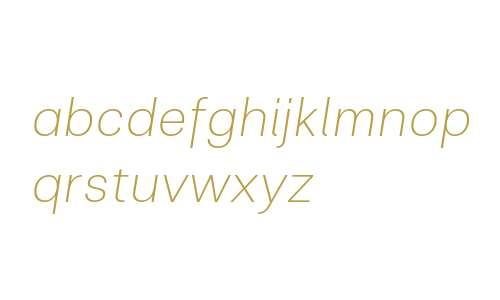 Clinica W03 ExtraLight Italic