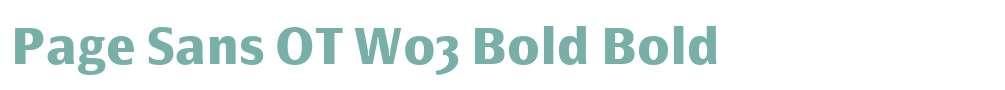 Page Sans OT W03 Bold