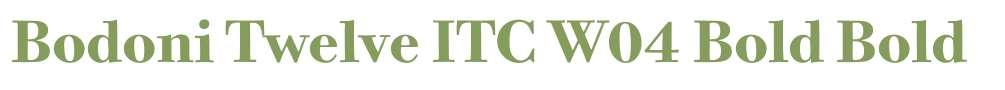 Bodoni Twelve ITC W04 Bold