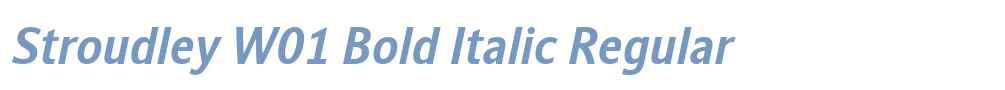 Stroudley W01 Bold Italic