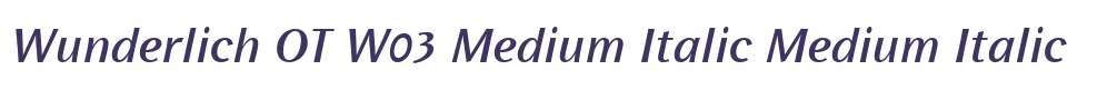 Wunderlich OT W03 Medium Italic