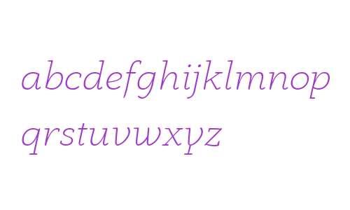 Anaphora Trial ExtraLight Italic