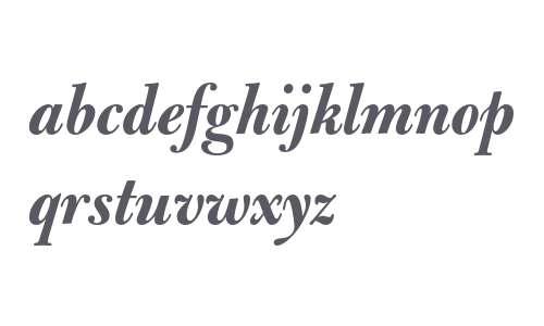 Bulmer MT Bold Italic Display