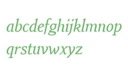 Benicia W01 Medium Italic