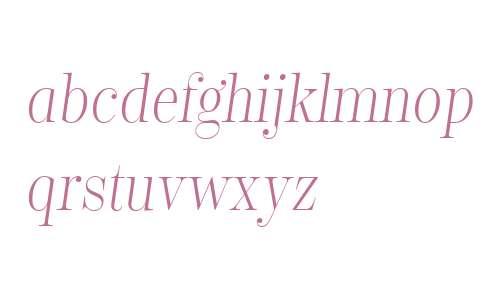 Encorpada Classic Condensed Light Italic
