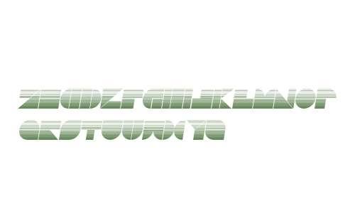 Drebiek Expanded Stripes Italic