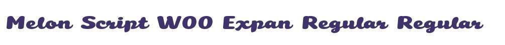 Melon Script W00 Expan Regular