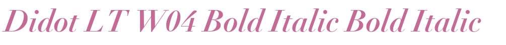 Didot LT W04 Bold Italic