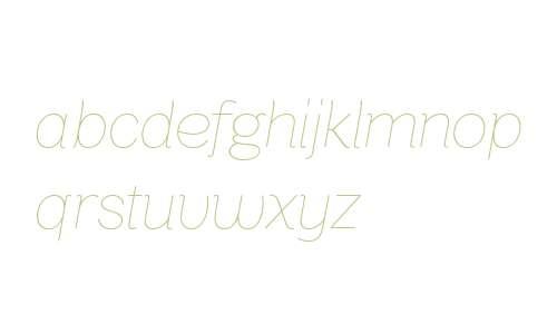 Bright Grotesk Thin Italic