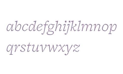 FreightMicro W03 Light Italic
