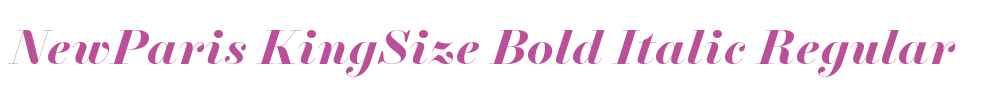 NewParis KingSize Bold Italic