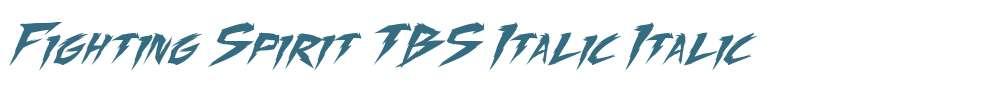 Fighting Spirit TBS Italic