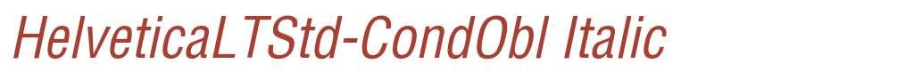 HelveticaLTStd-CondObl
