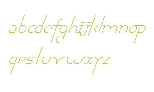 Chaman W00 Light Italic