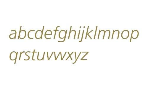 Frutiger LT 46 Light Italic