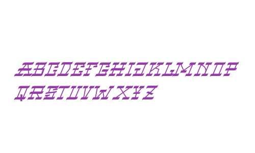 VIRGIL BLACK Narrow Italic