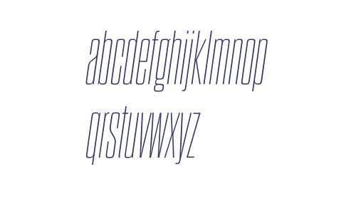 Dharma Gothic C W03 Thin Italic