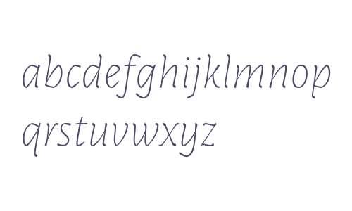 Paiper W00 Thin Italic