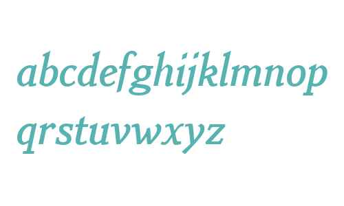 Benicia W01 Bold Italic