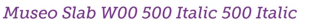 Museo Slab W00 500 Italic