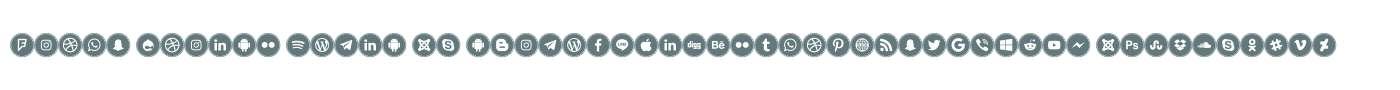 Icons Social Media 16